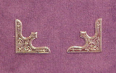 CORNER PLATES for 1:9 Traditional Scale Model Horse Western Saddle SILVER TONED