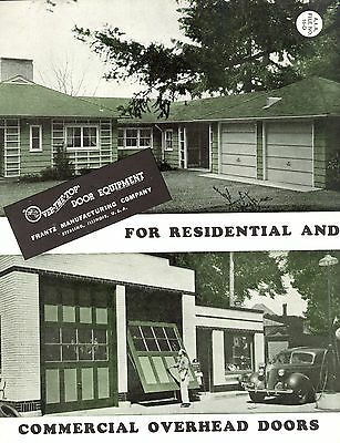 Residential & Commercial Overhead Doors Franz Manufacturing Co 1947 Brochure
