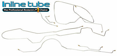 """1969 Buick Electra 126/""""wb Complete Power Drum Brake Line Set Kit Tubes Stainless"""