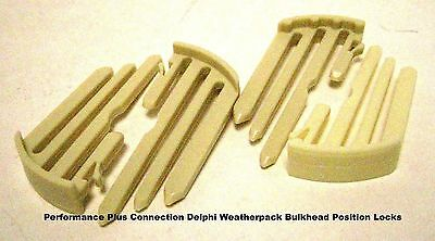 Delphi 12010852 Weather Pack Bulkhead Position Lock Pack of 4 ea Made In USA