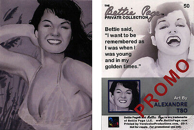 Bettie Page Private Collection Card 50 Promo Card art by Alexandre Tso