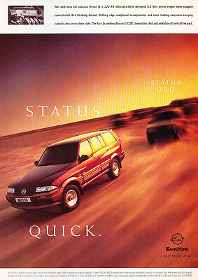 1997 Ssangyong Musso -  Classic Advertisement Ad A60-B