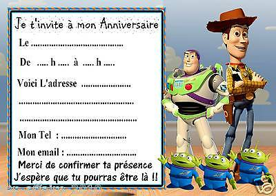 5 cartes invitation anniversaire  toy story  01
