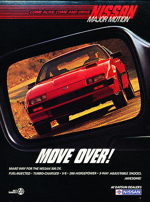 1985 Nissan 300-ZX 300ZX - Move over -  Classic Vintage Advertisement Ad A63-B