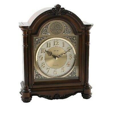 Rhythm Solid Wood  Mantel Clock ~  Westminster Chime /melodies/xmas Song ~
