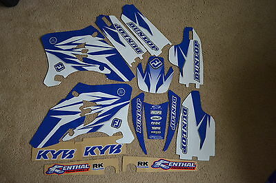 FLU TEAM  GRAPHICS &  WHITE  BACKGROUNDS  YAMAHA WR250F WR450F 2005 2006