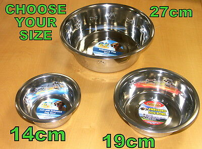 Pet Cat Dog Puppy Kitten Travel Size Stainless Steel Bone Food Drink Water Bowls