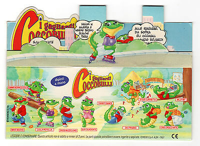 COCCOBULLI Display Fold-Out Sign Italy RARE Promo CRAZY CROCOS KINDER Surprise