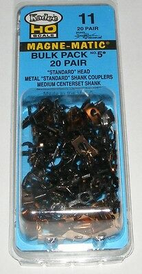 Kadee HO scale # 11  Bulk Pack # 5 x 20 pair magne-matic couplers