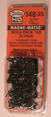 Kadee HO scale # 14 Bulk Pack # 148 x 25 pair metal whisker magne-matic couplers