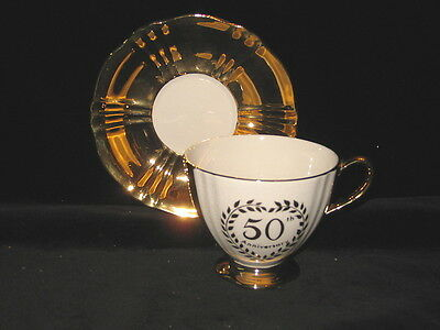 ROYAL WINTON - 50th Anniversary - Gold - CUP & SAUCER SET - 16e