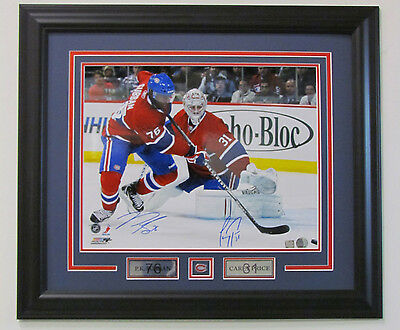 PK Subban Carey Price Montreal Canadiens Dual Signed 16x20 Photo Autograph Frame