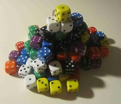 Wargaming Space Marines Chaos 50 Opaque Six Sided Dice 14mm D6 RPG New (D040)
