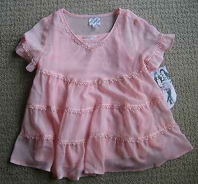 DISNEY  CeCe& Rocky Collection Pink Top Girl's Sz S Cute! SHAKE IT UP! NO TAG