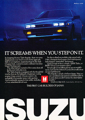 1986 Isuzu Impulse - screams - Classic Vintage Advertisement Ad A82-B