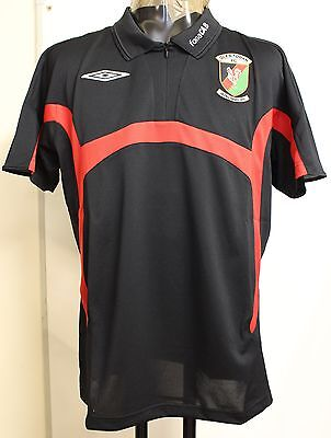 Glentoran Black Bench Poly Polo By Umbro Adults Size Medium Brand New With Tags