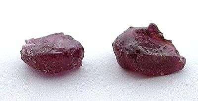 20.37 Carat Two Ruby Facet Rough Gem Stone Gemstone Crystals EBS2022