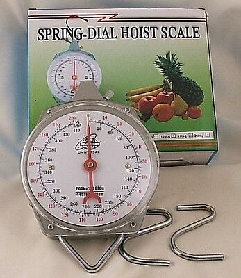 Brand New Fishing Metal Hanging  Scale Upto 200kg 440lb