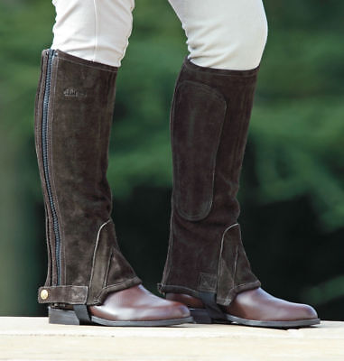 Adults Horse Riding Suede Chaps -  Dark Brown - Extra Large - was £27.99 Shires