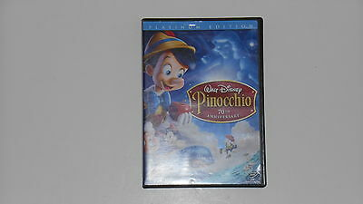 WALT DISNEY'S PINOCCHIO 70th ANNIVERSARY 2 DISC PLATINUM EDITON THX DVD MOVIE