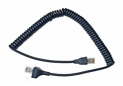New Replacement Modular 6 pin Microphone Coiled Cord