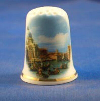 Birchcroft  Porcelain China Thimble - Canaletto Venice Scene - Free Gift Box