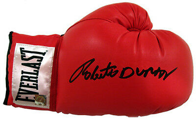 Roberto Duran Hand Signed Boxing Glove With Exact Proof Coa