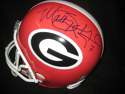 JSA Matthew STAFFORD Signed Georgia BULLDOGS F/S Helmet
