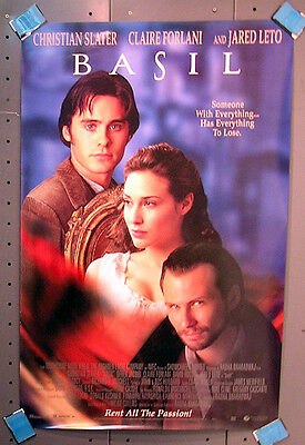 BASIL Movie Video Poster- Slater/Forlani/Leto- Rolled (ITCPO-631)