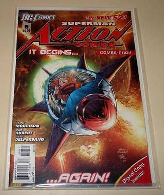 ACTION COMICS # 5 COMBO-PACK DC Comic The New 52 ! Mar 2012  NM Polybagged