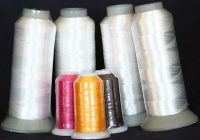 NEW FOUR X-LG CONES WHITE BOBBIN THREAD MACHINE EMBROIDERY for Brother