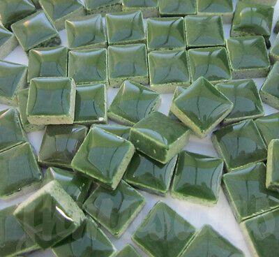 100pcs - 110grams Micro Ceramic Mosaic Tiles Dark Green GD1