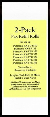 2-pack of KX-FA92 Fax Film Refills for Panasonic KX-FPG381 KX-FPG391 KX-FPG550