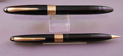 Sheaffer White Dot Touchdown Fountain Set --