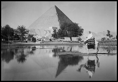 PH08 Vintage 1930's Egypt Egyptian Great Pyramid Gizeh Photo Re-Print A3/A2