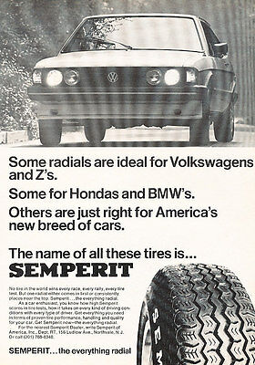 1978 Volkswagen VW Scirocco Semperit - Classic Vintage Advertisement Ad A89-B
