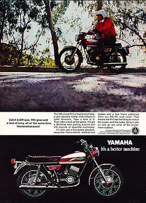 1970 Yamaha R-5 Motorcycle - Classic Vintage Advertisement Ad A89-B