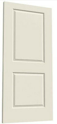Cambridge 2 Panel Square Molded Primed Smooth Solid Core Wood Composite Doors