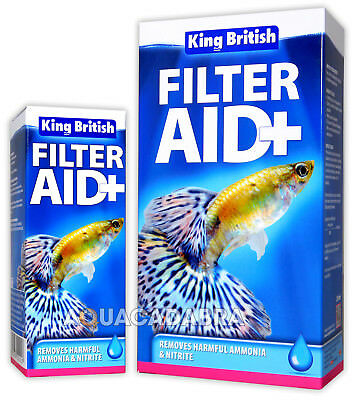 King British Filter Aid Safe Water Fish Tank Aquarium Nitrite Ammonia Treatment
