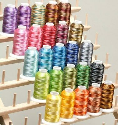 New 25 Cones Large Varigate Machine Embroidery Threads