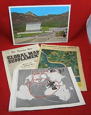 Vintage WORLD WAR II WW II NEWSPAPERS 1942 Air Force Picture Axis Allies Ships