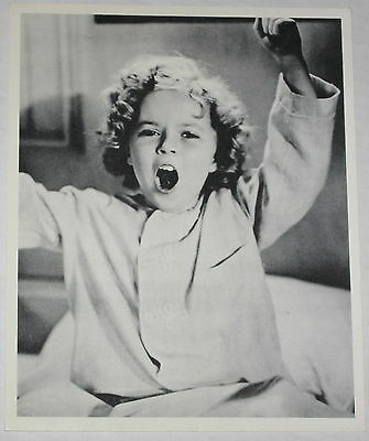 1980's Cute Shirley Temple Waking Up Publicity 8x10 Photo