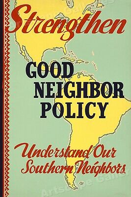 "1940 ""Good Neighbor Policy"" Vintage Style WPA Poster - 24x36"