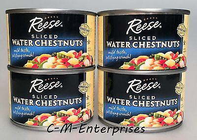 Reese Sliced Water Chestnuts 8 oz ( 4 Cans )