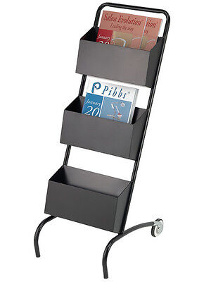 Pibbs MR/03 MAGAZINE RACK STAND ON WHEELS AND PORTABLE