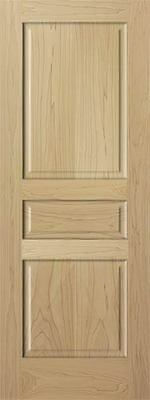 3 Panel Raised Solid Clear Poplar StainGrade Solid Core Wood Doors Interior Door