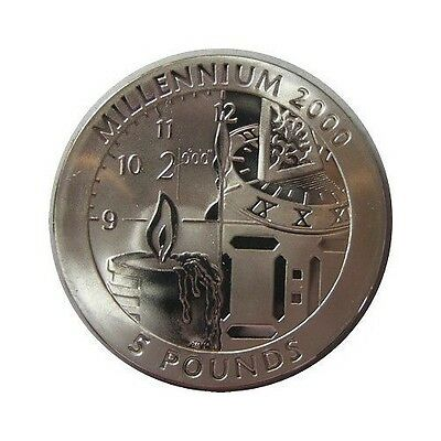 elf Gibraltar 5 Pounds 1999 Titanium Clock Time Candle Sundial