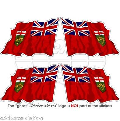 """Vinyl Bumper Sticker ONTARIO Province Map-Flag Canada Canadian 100mm 4/"""" Decal"""