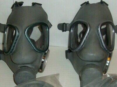 2 New NATO Finnish M9 style Military Gas Mask & Two expired 60mm Filters
