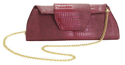 Big Buddha 100% Authentic AARON Chain Clutch BERRY  Rare & Hard to find BNWT